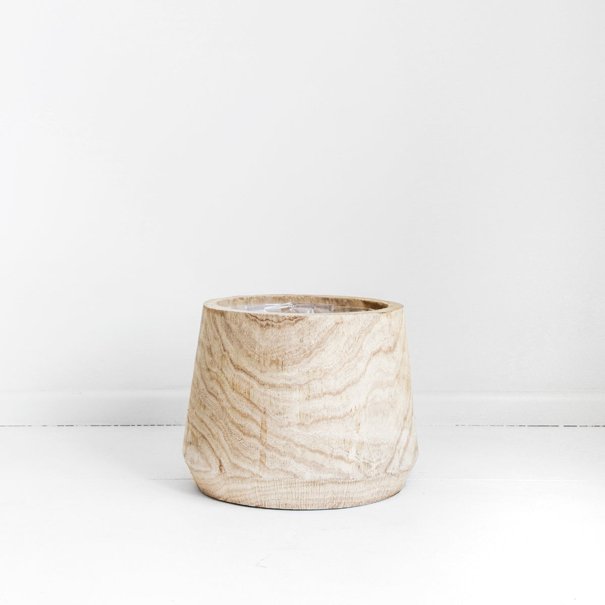 RAW TIMBER TUB POT - LARGE