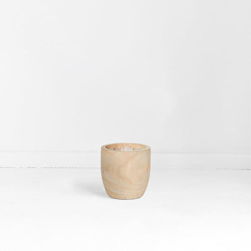 RAW TIMBER POT - SMALL