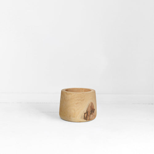 RAW TIMBER TUB POT - SMALL