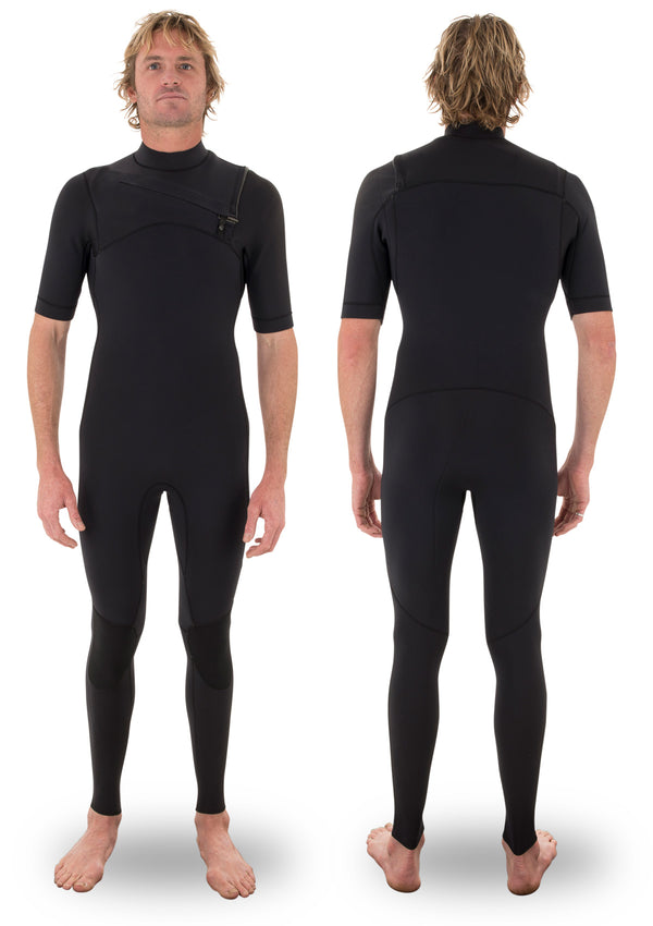 needessentials 2mm Chest Zip Short Arm summer wetsuit laurie towner  big wave surfing non branded