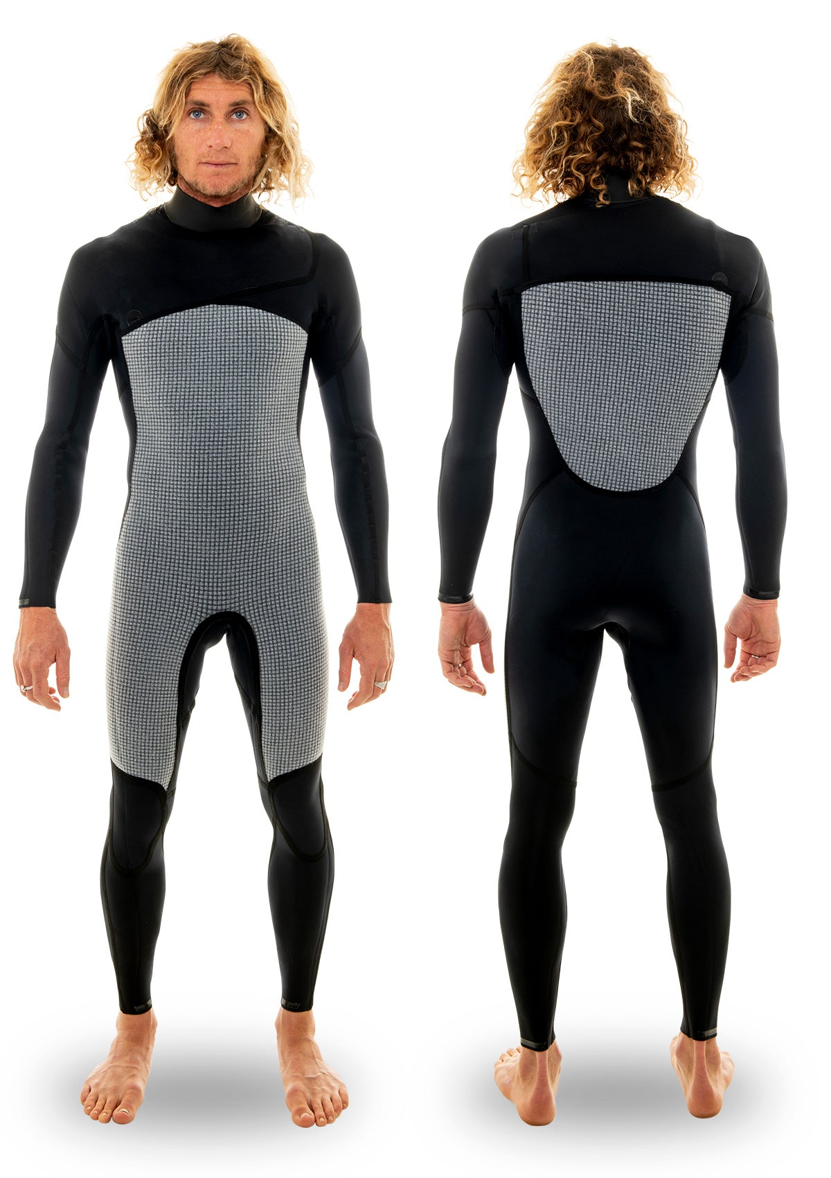 needessentials 3/2 thermal chest zip wetsuit surfing wetsuit winter black