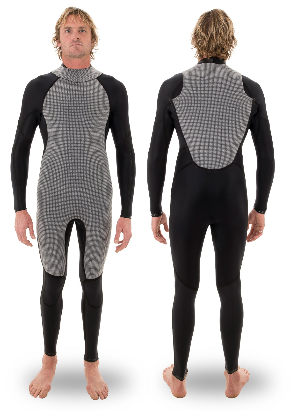 needessentials 3/2 thermal back zip wetsuit laurie towner surfing winter