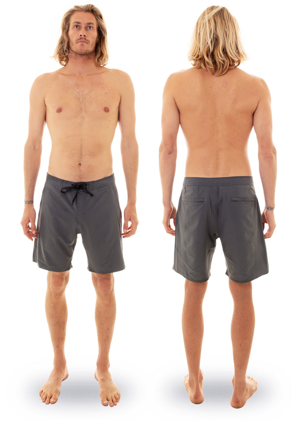 needessentials all-rounder mens surfing boardshorts non branded dark grey torren martyn