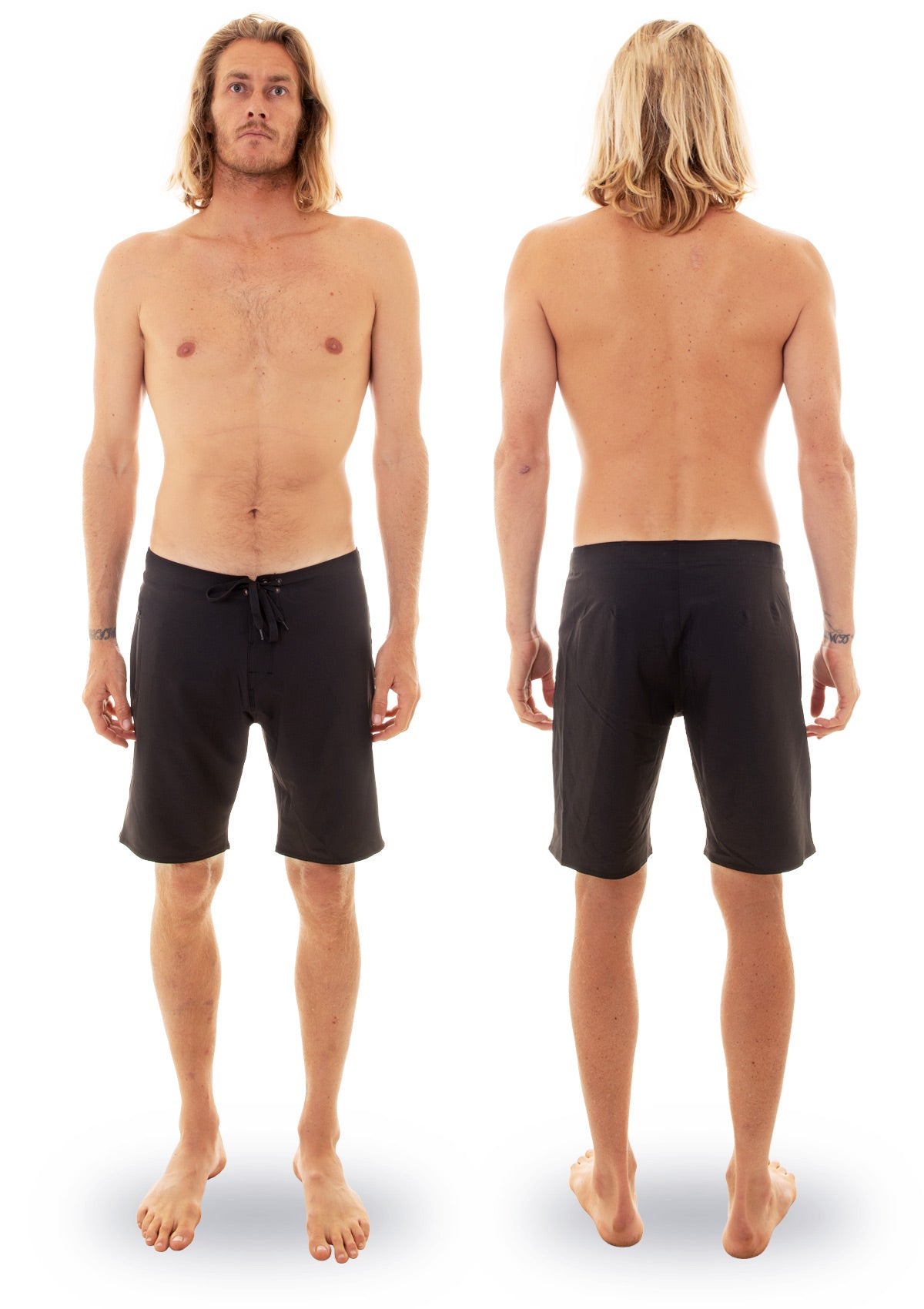 needessentials light weight mens surfing boardshorts non branded black torren martyn