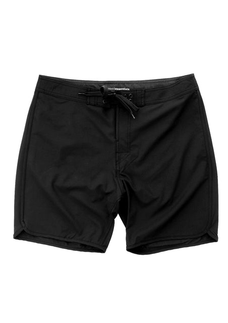 Black-Premium Scallop Boardshort