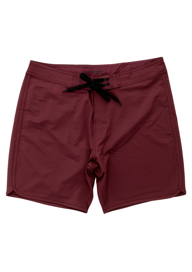 needessentials scallop mens surfing boardshorts non branded burgundy