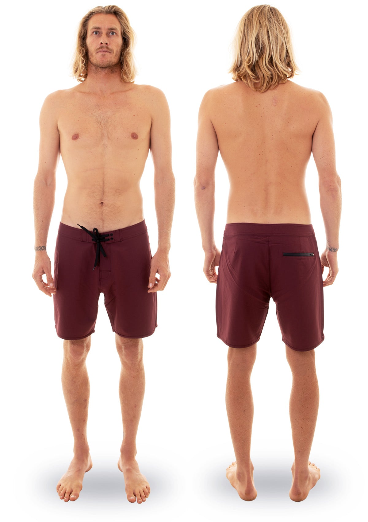 needessentials scallop mens surfing boardshorts non branded burgundy torren martyn