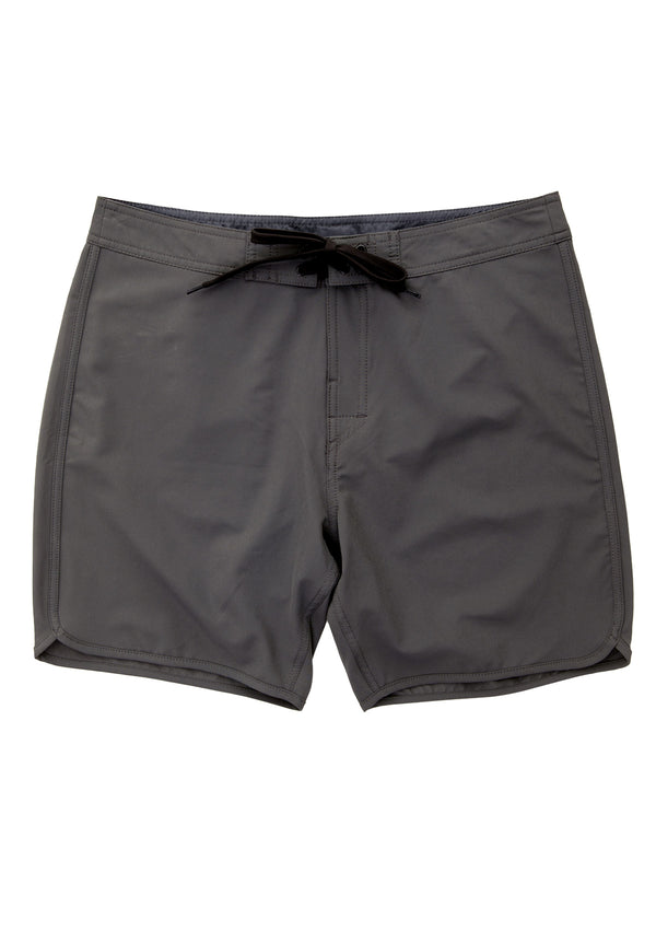 needessentials scallop mens surfing boardshorts non branded dark grey