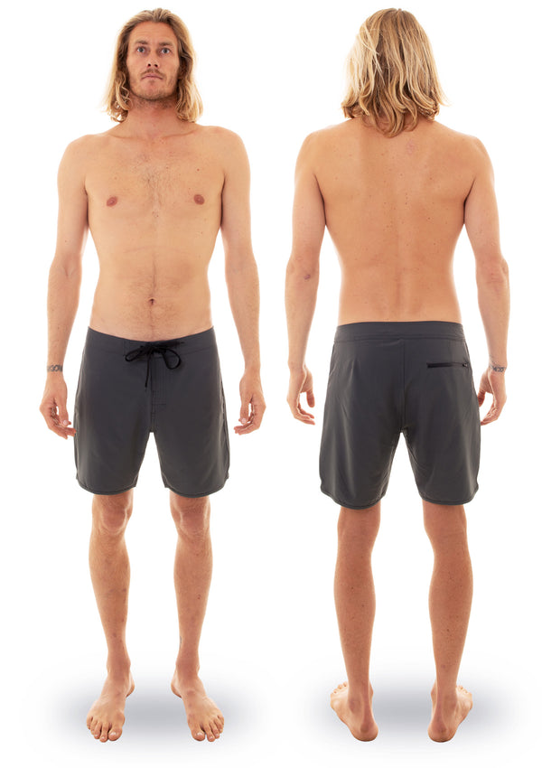 needessentials scallop mens surfing boardshorts non branded dark grey torren martyn