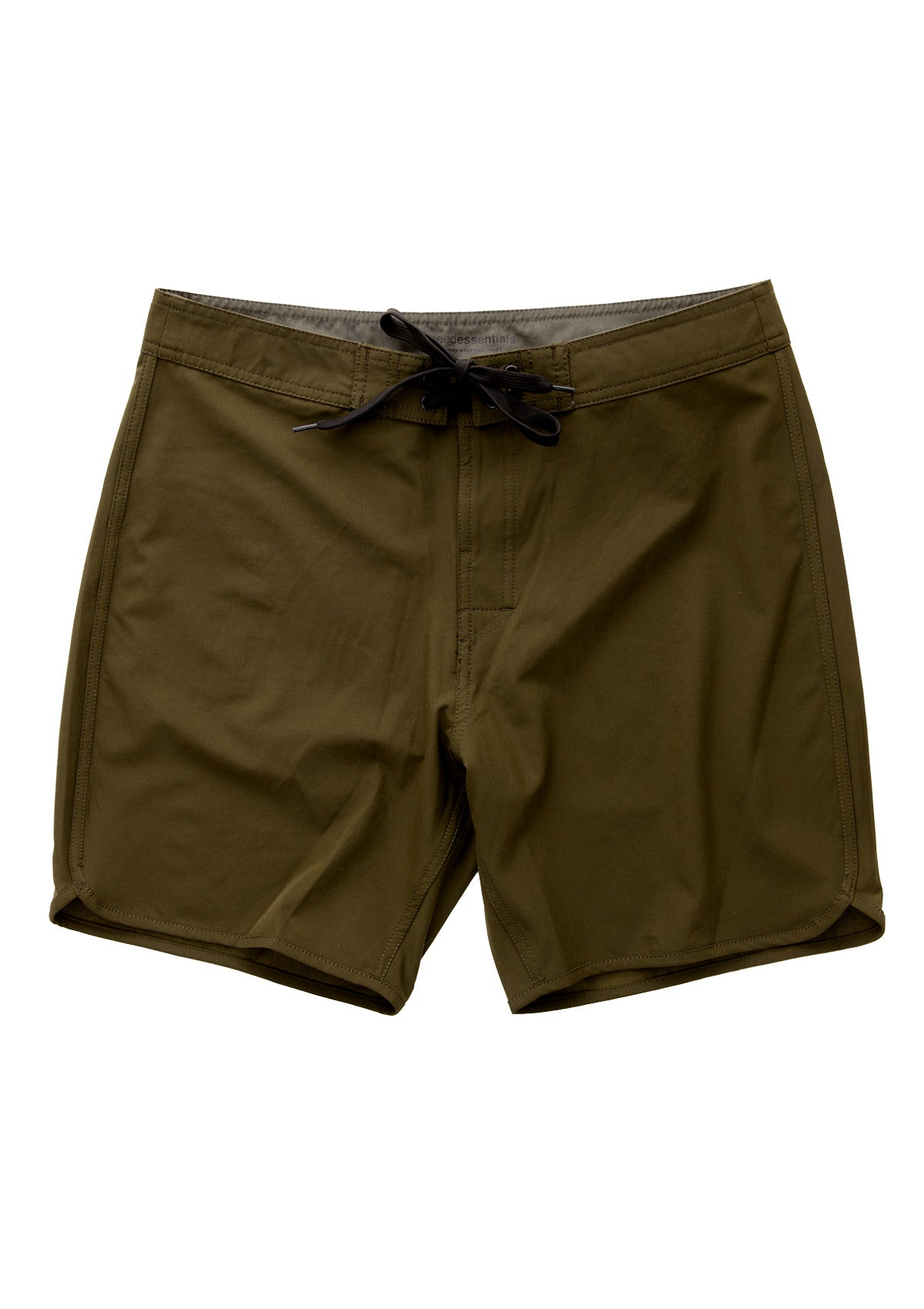needessentials scallop mens surfing boardshorts non branded olive