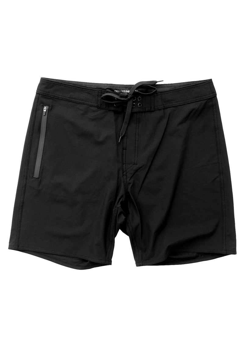 needessentials side mens surfing boardshorts non branded black