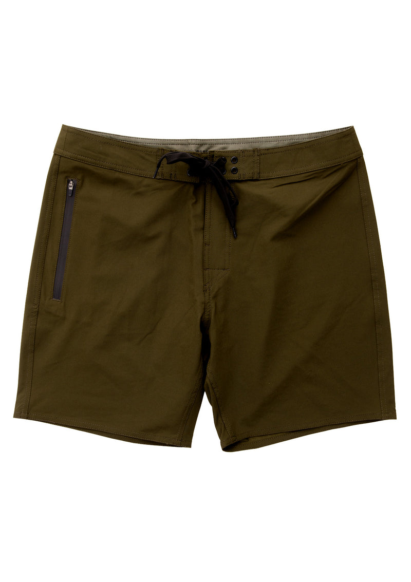 needessentials side mens surfing boardshorts non branded olive