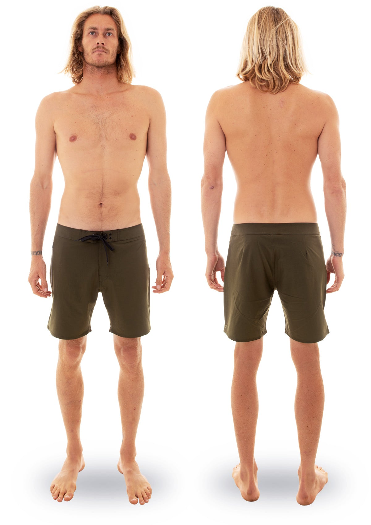 needessentials side mens surfing boardshorts non branded olive torren martyn