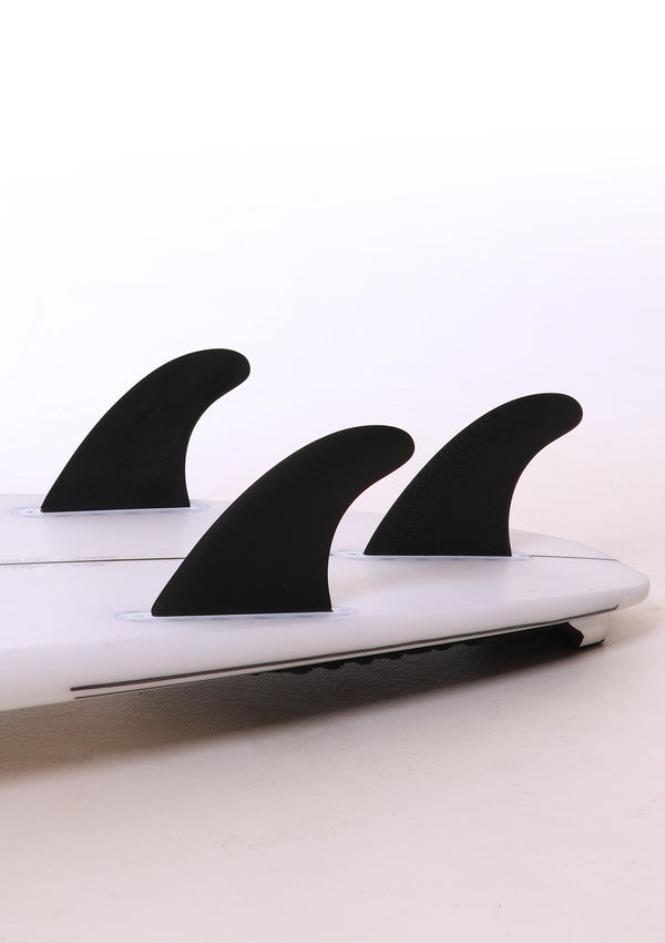 Hand Foiled Thruster Fins - Black