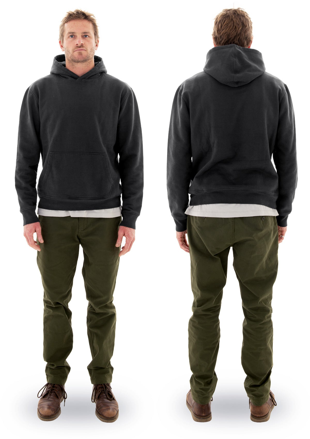 needessentials organic cotton hoodie jumper black laurie towner