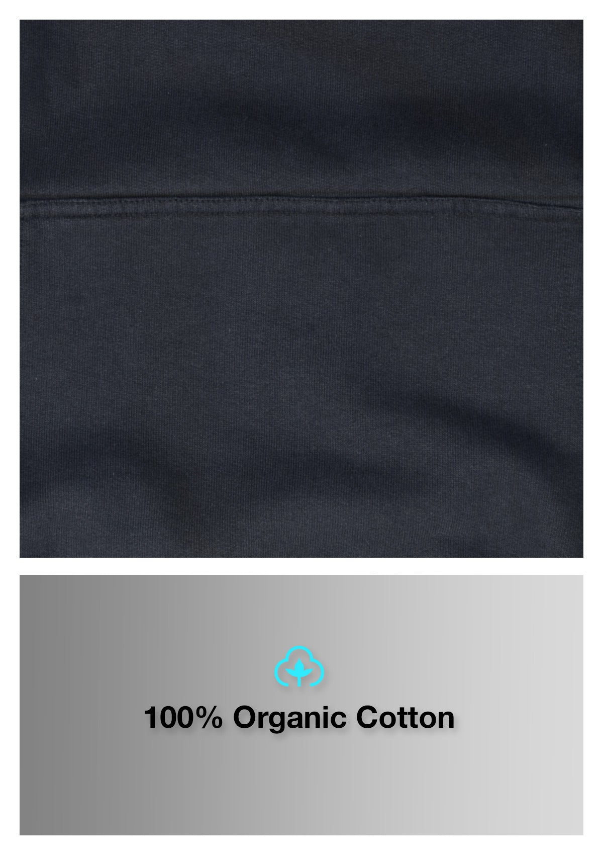 Organic Cotton Hoodie - Twilight Black