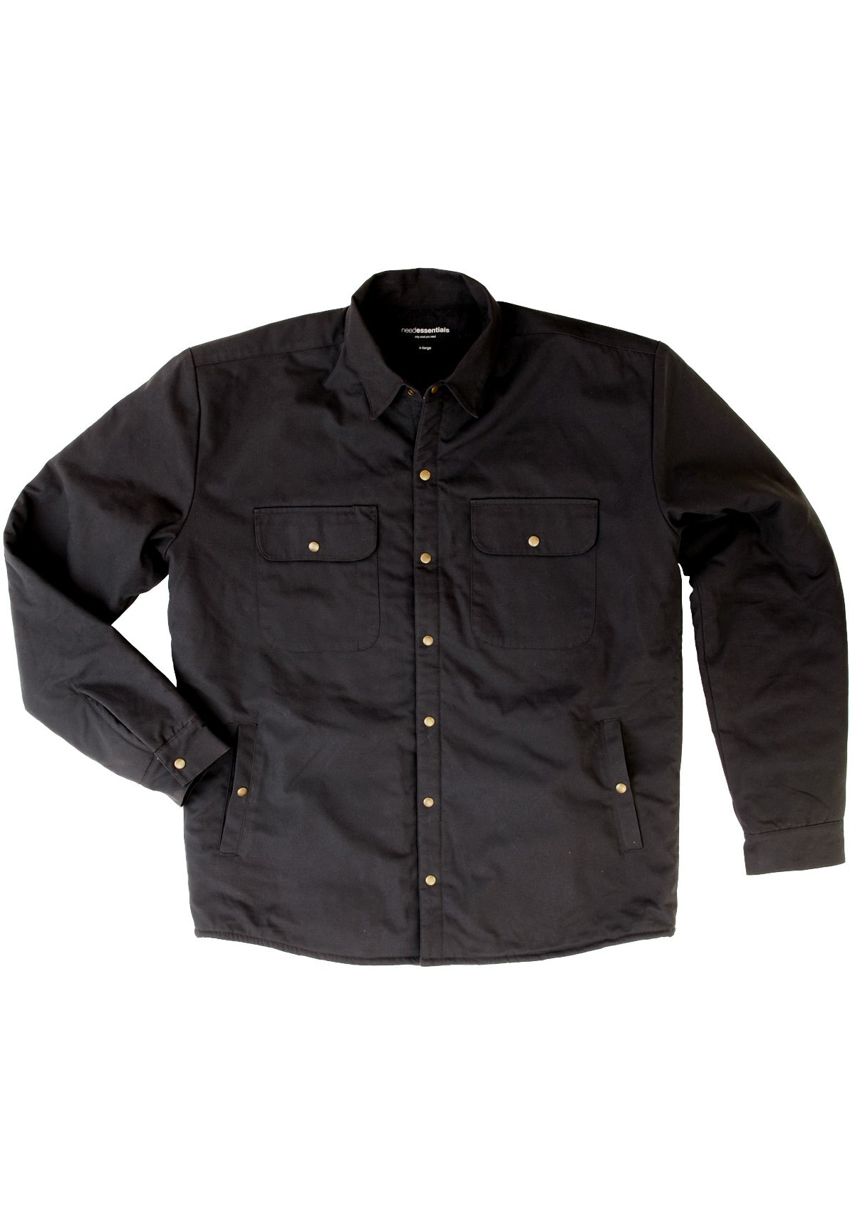 Organic Cotton / Wool Insulated Jacket - Twilight Black
