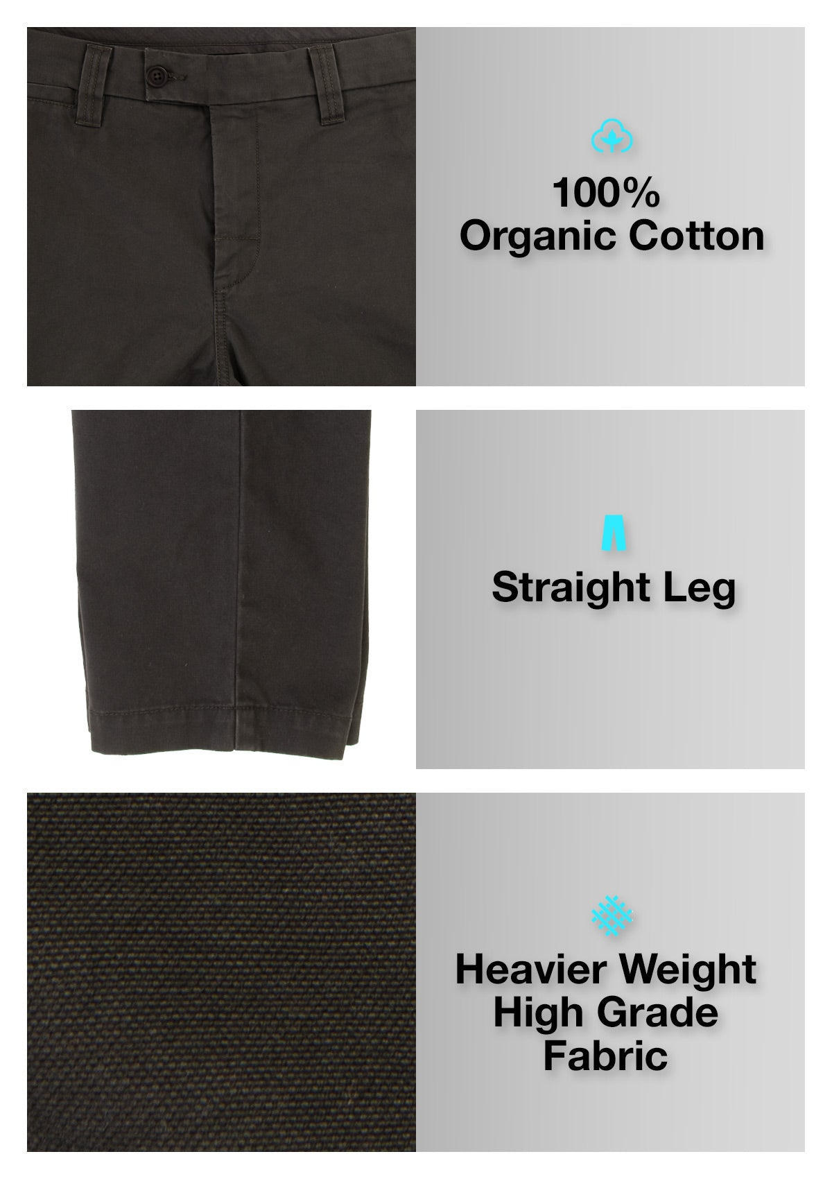 Organic Cotton Straight Leg Pant - Twilight Black