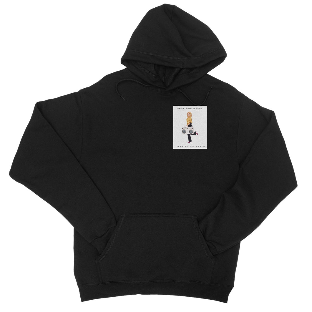 Peace, Love, & Music Jeanine DelCarlo Collection  College Hoodie