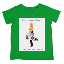 Peace, Love, & Music Jeanine DelCarlo Collection  Womens T-Shirt