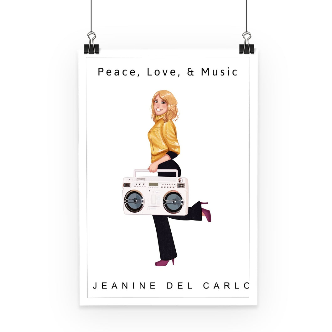 Peace, Love, & Music Jeanine DelCarlo Collection  Poster