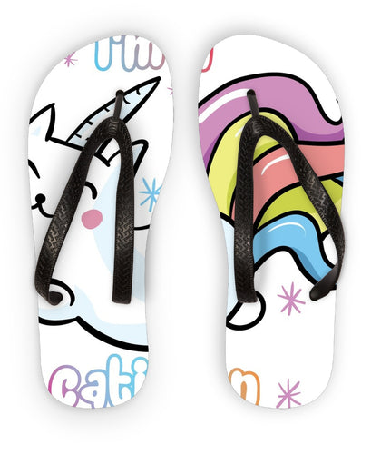 Caticorn Collection Flip Flops