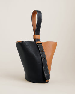 Sid Bucket | Black & Caramel