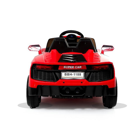 12V Red Lamborghini Aventador Style Battery Ride On Car 4
