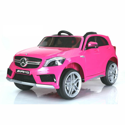 Licensed Mercedes A45 12v Ride on Electric Car with Remote - Pink