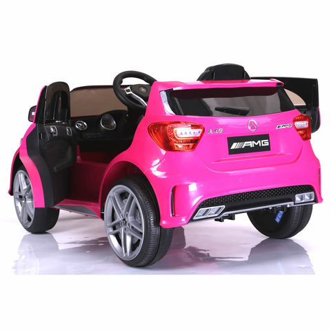 Licensed Mercedes A45 12v Ride on Electric Car with Remote - Pink 3