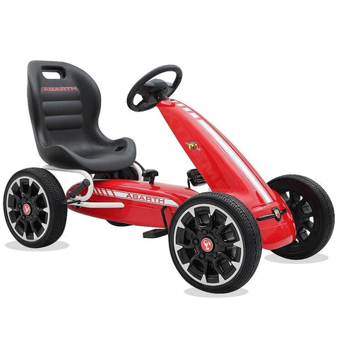Licensed Abarth Kids Ride on Pedal Go Kart - Red