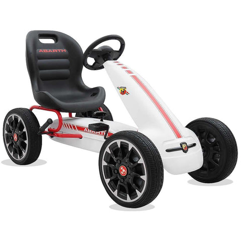 Licensed Abarth Kids Ride on Pedal Go Kart - White