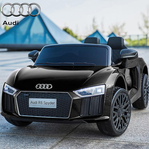 Licensed 12V Black Audi R8 Spyder Kids Battery Ride On Car 2