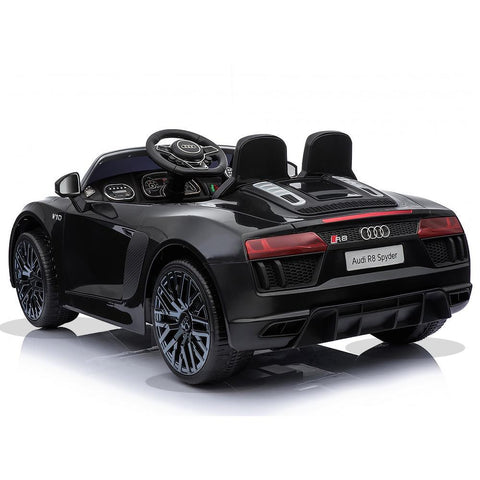 Licensed 12V Black Audi R8 Spyder Kids Battery Ride On Car 4