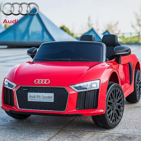 Licensed 12V Red Audi R8 Spyder Kids Battery Ride On Car 2