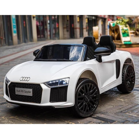 Licensed 12V White Audi R8 Spyder Kids Battery Ride On Car 2