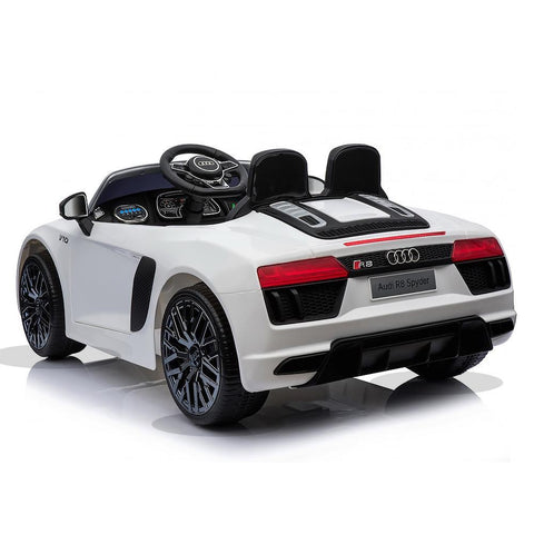 Licensed 12V White Audi R8 Spyder Kids Battery Ride On Car 4
