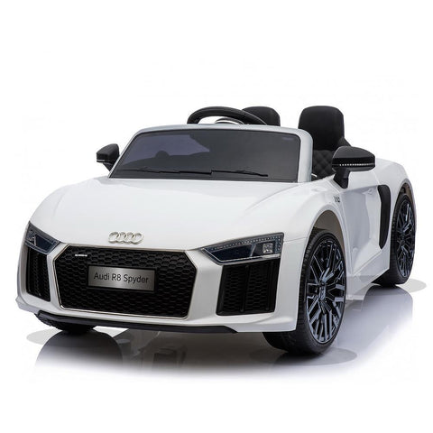 Licensed 12V White Audi R8 Spyder Kids Battery Ride On Car