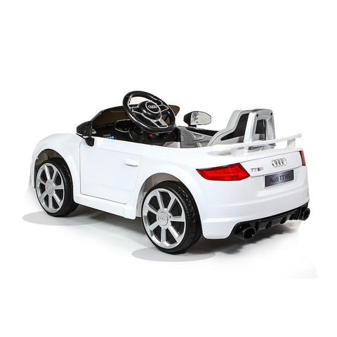 Licensed Audi TT RS 12V Battery Ride On Car - White 2