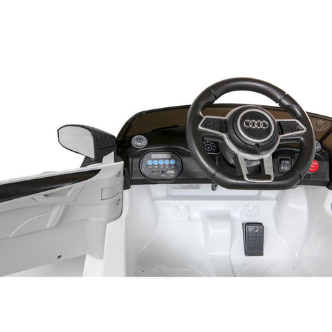 Licensed Audi TT RS 12V Battery Ride On Car - White 4