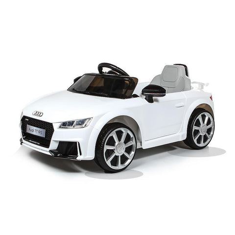Licensed Audi TT RS 12V Battery Ride On Car - White