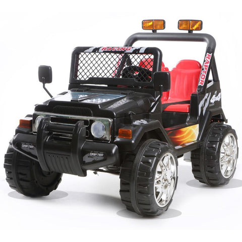 Battery Powered - 12V 2 Seater Kids 4x4 Electric Truck - Black