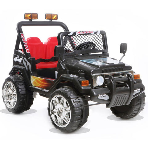 Battery Powered - 12V 2 Seater Kids 4x4 Electric Truck - Black 3