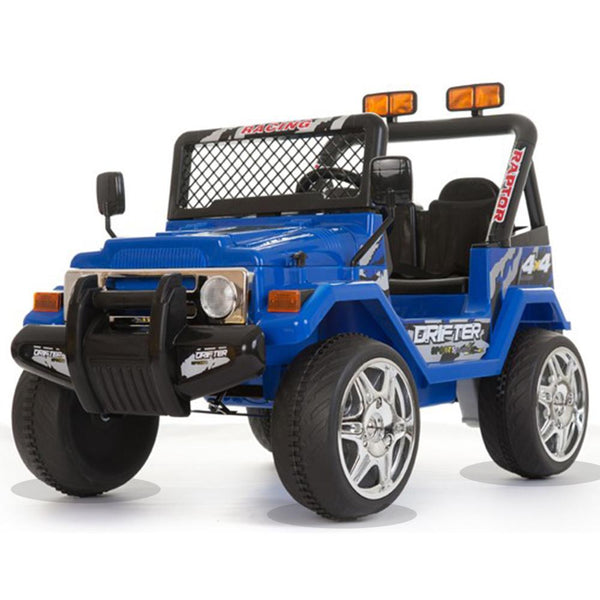 Battery Powered - 12V 2 Seater Kids 4x4 Electric Truck - Blue