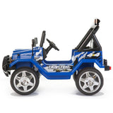 Battery Powered - 12V 2 Seater Kids 4x4 Electric Truck - Blue 2