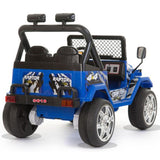 Battery Powered - 12V 2 Seater Kids 4x4 Electric Truck - Blue 3