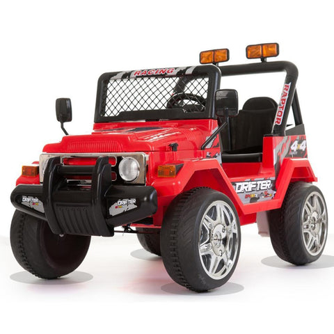 Battery Powered - 12V 2 Seater Kids 4x4 Electric Truck - Red