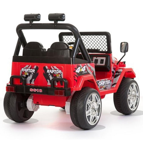 Battery Powered - 12V 2 Seater Kids 4x4 Electric Truck - Red 3