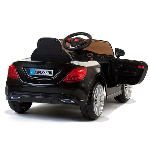Black 535 Saloon - 12V Kids' Electric Ride On Car 2