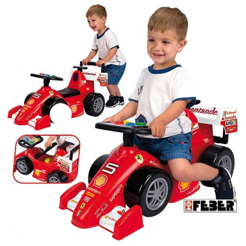 Feber Foot to Floor Ferrari Ride on Car with Handle 2